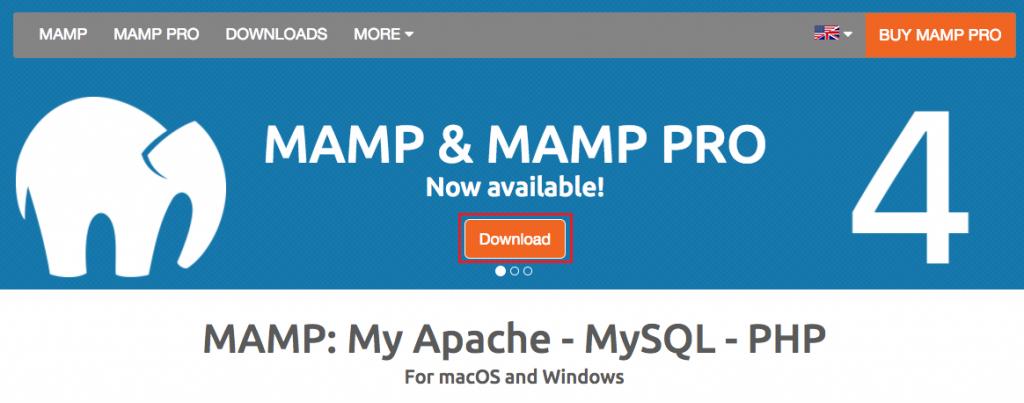 MAMP公式サイト訪問